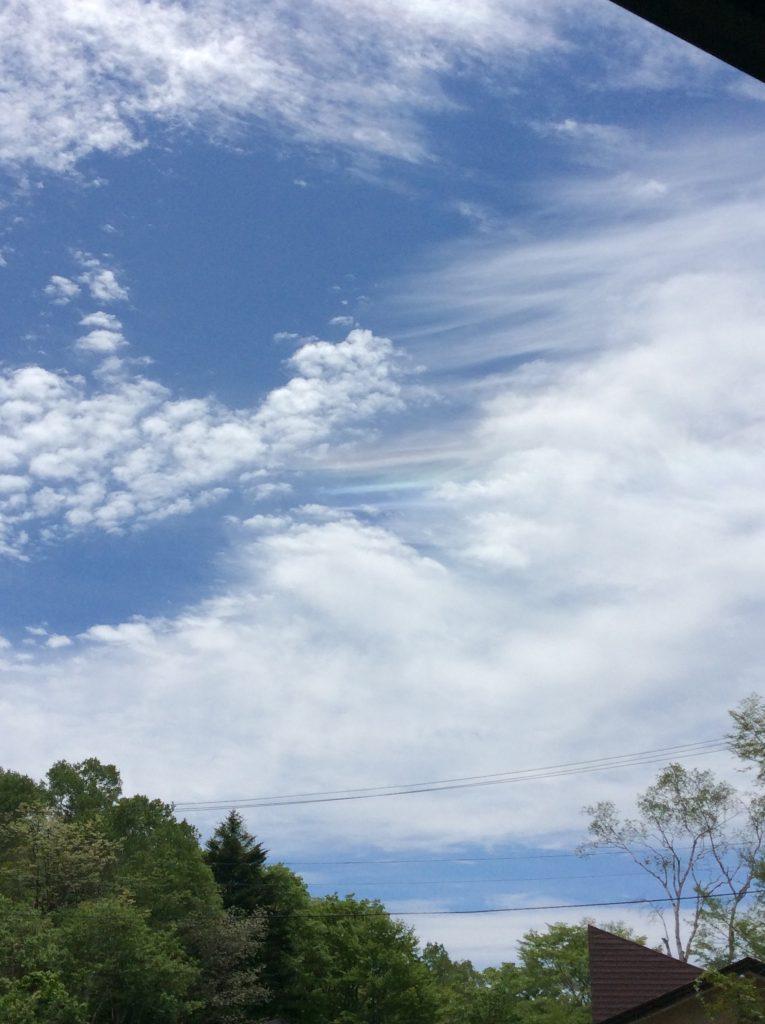 今年5月に訪れた戸隠奥社の彩雲