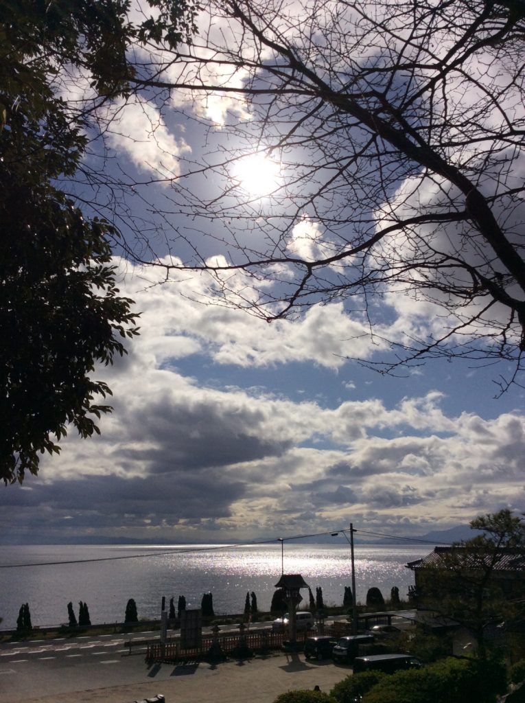2016.11.25 滋賀 白髭神社から琵琶湖を望む